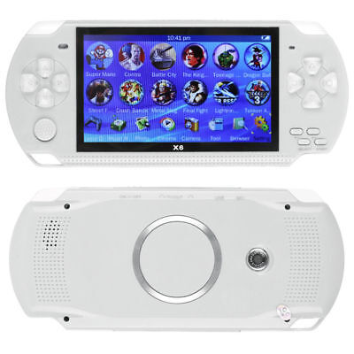Built In Camera - 8GB Portable 4.3'' PSP Handheld Game Console + 10000 Games Built-In Camera White