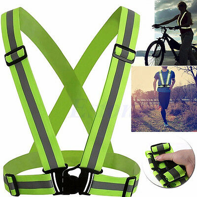 Adjustable Safety Security High Visibility Reflective Vest Gear Stripes Jacket