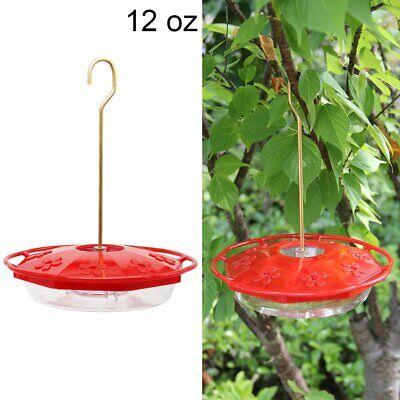 12 Ounce Hummingbird Feeder - 12 Oz Hanging Hummingbird Feeder With 8 Feeding Ports