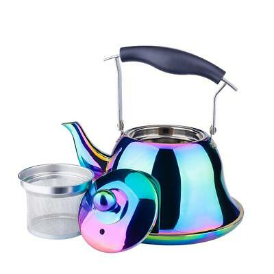 OMGard Whistling Tea Kettle with Infuser Loose Leaf Stainles