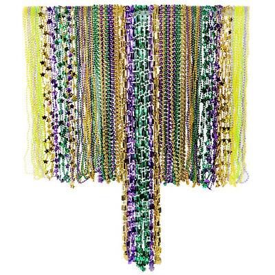 Mardi Gras Bead Necklaces Bulk Assortment - - Bulk Mardi Gras Beads
