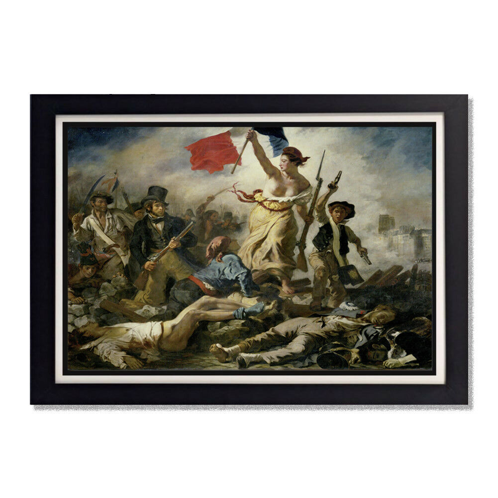 Liberty Leading the People Eugene Delacroix Glossy Poster 11