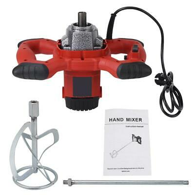 New Electric Mortar Mixer 1500w Dual High Low Gear 6 Speed Paint Cement Grout