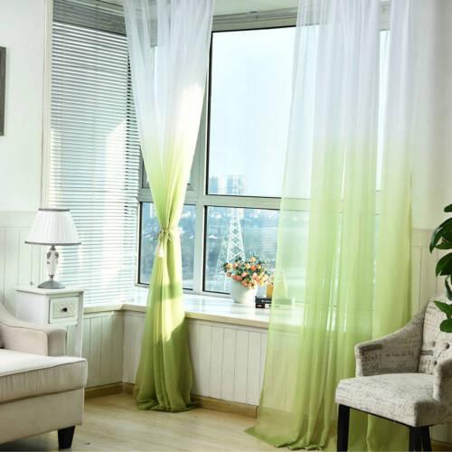 100 * 270 CM Gradient Color Gauze Window Curtains For Living