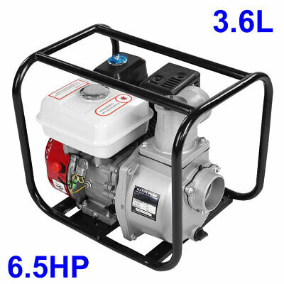 3 Petrol Gasoline Water Transfer Pump 6.5hp 7m Garden Irrigation Swimming Pool