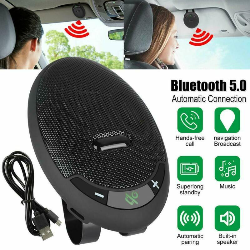 Wireless Music Car Bluetooth V5.0 Handsfree Speaker Sun Viso