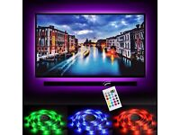 NEW LED Home Theater TV BackLight Accent Back Lighting Kit Bias Multi-Color Strips