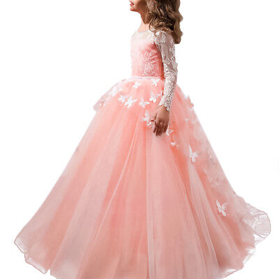 Flower Girl Dresses For Fall Wedding (Flower Girl Lace Dress Princess Butterfly Ball Gown Dresses for Wedding)