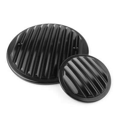 Black Plate Finned Engine Cover Kit For Victory Cross Country Hammer Vegas