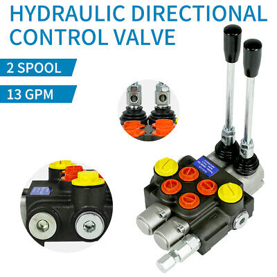 2 Spool Hydraulic Directional Control Valve 13gpm 3600psi Manual Control