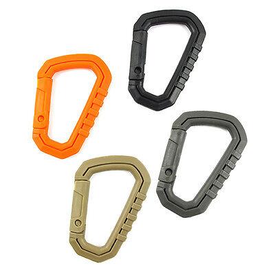 5pcs D Shaped 200LB Buckle Snap Clip POM Plastic Climbing Carabiner Hanging EDC