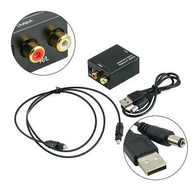 TV Digital Optical Coaxial Toslink Signal to Analog Audio Converter Adapter RCA Coaxial Optical Tv