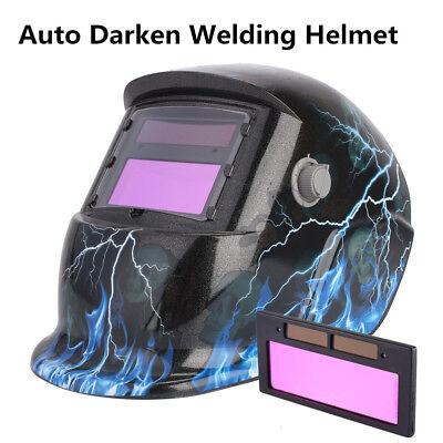 Solar Auto Darkening Sensor Arc Helmet Lens Tig Mig Mask Filter Welding Helmet
