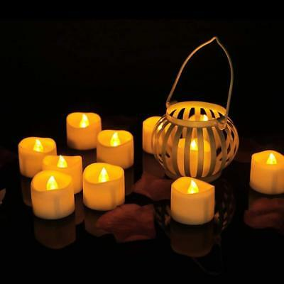 Flameless Tea Light (Flameless Votive Candles Flickering Christmas LED Tea Light White Amber)