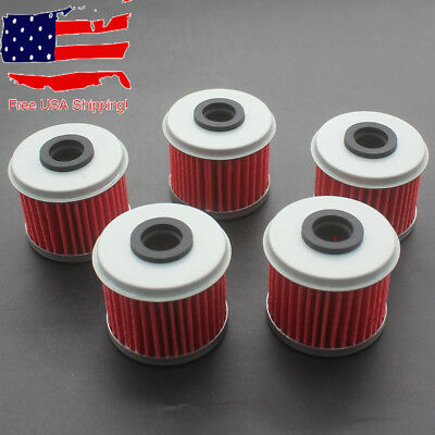 5x Oil Filter For Honda CRF 150R 250R 450R 250X 450X Husqvarna TE / TC / TXC 250
