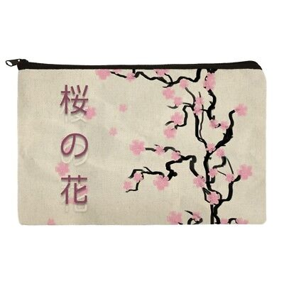 Cherry Blossom Tree Pink Japanese Pencil Pen Organizer Zipper Pouch Case - Japanese Pencil Tree