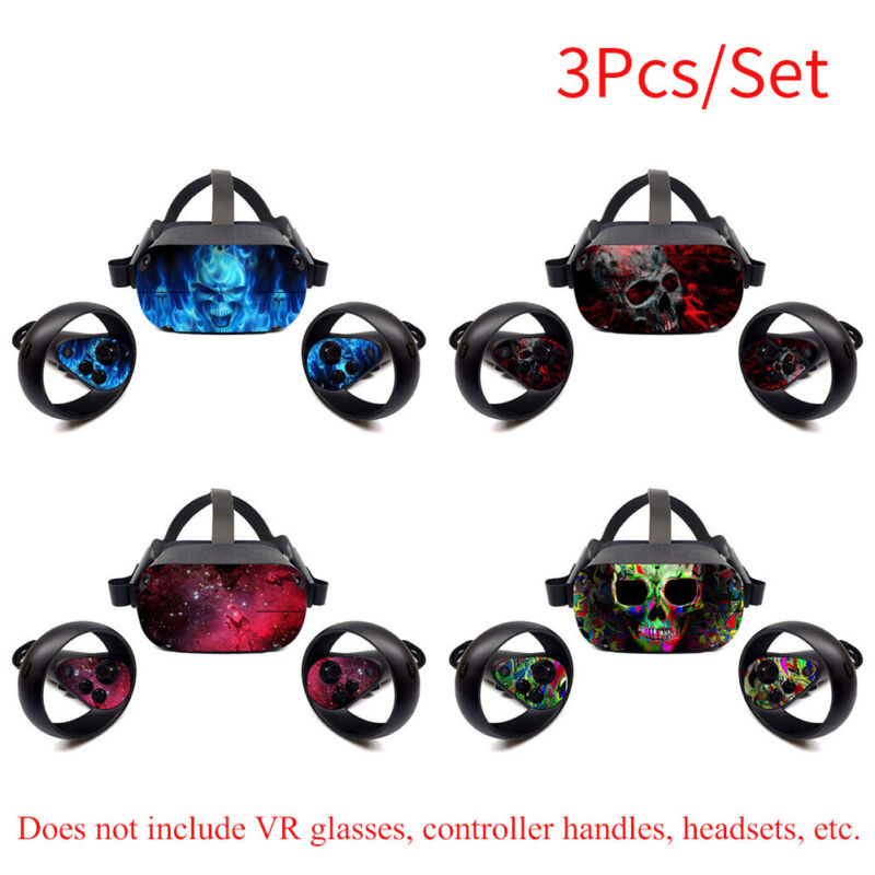 Removable Wrap Cover VR Headset Sticker Vinyl Decal Protective for Oculus Quest