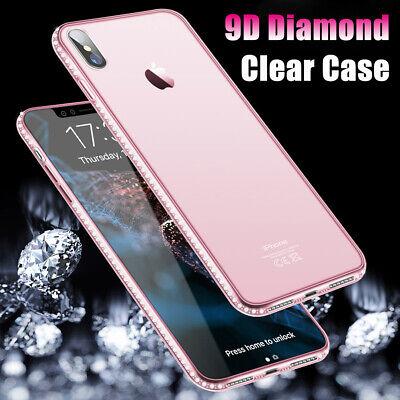 Klar Transparent Shockproof Fall Für iPhone 5S SE 6S 8 Plus Diamond Bling Case