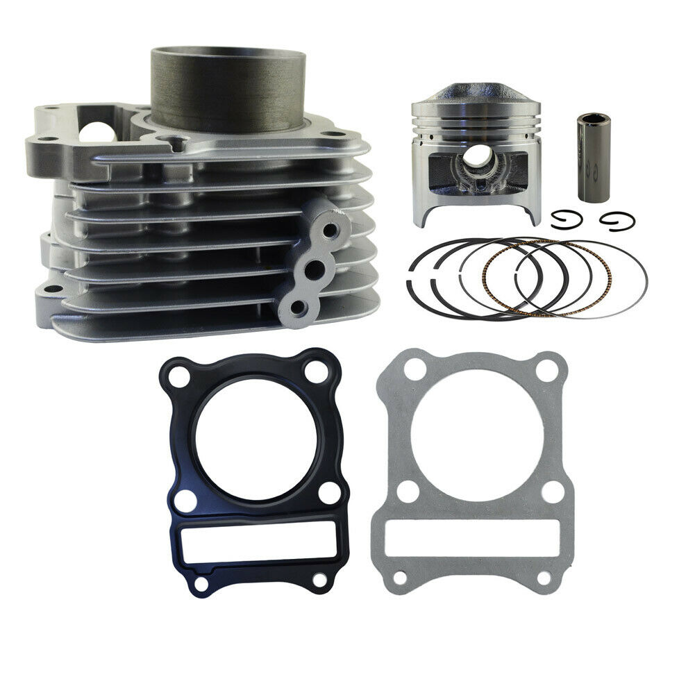 Motorcycle Engine Parts Std Cylinder Bore Size 66mm: Air Cylinder Piston Ring Head Gasket Kit For Suzuki GS125