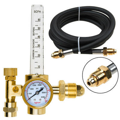 For Argon Co2 Mig Tig Flow Meter Welding Weld Regulator Gauge Gas Welder W Hose
