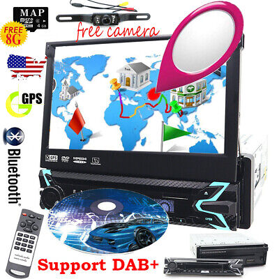 "Single 1DIN Flip 7"" Car Stereo DVD CD Player GPS/USB/Bluetooth Radio DAB+ Camera comprar usado  Enviando para Brazil"