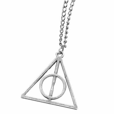 Harry Potter Necklace Triangle Jewellery Charm Christmas Stocking HP Cute Gifts