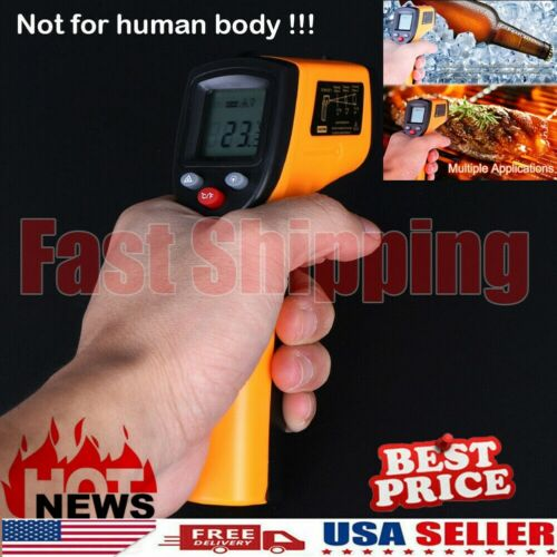 Non-Contact Digital Thermometer Infrared Handheld Temperature Gun IR Laser Point