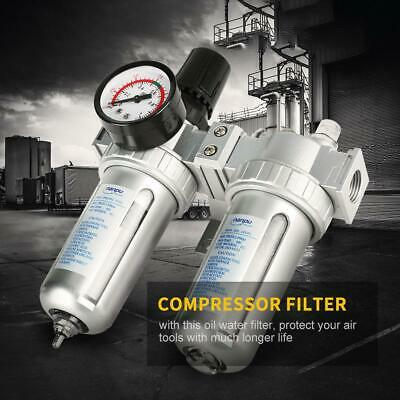 SMC 1//2/'/' Particulate Auto Air Filter Water Clear Trap Regulator Compressor