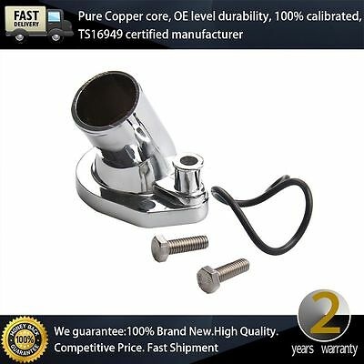 NEW Chrome Thermostat Housing Water Neck For Ford V8 289-302-351W 45 Degree