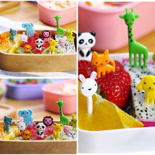 Kinder Obst Gabel kunststoff Obstgabeln Dessert Kuchen Geschirr Küche Zubehör
