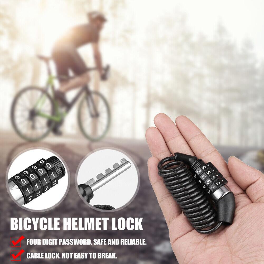 4-Digit Password Bicycle Code Lock Mountain Bike Security Anti-theft Lock US New