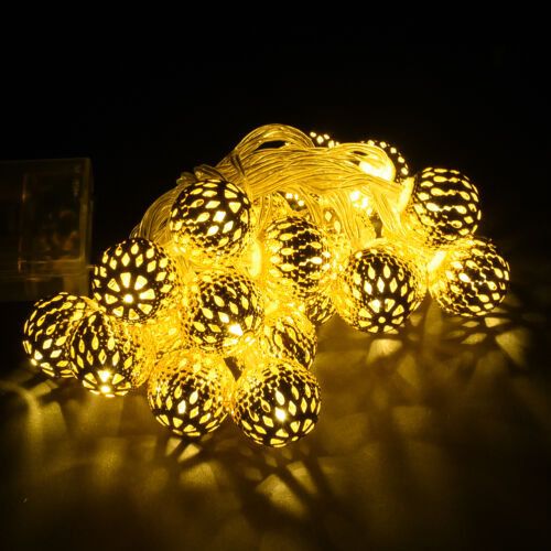 Battery box Energy Morocco Fairy Light String Warm White Outdoor Party Decor