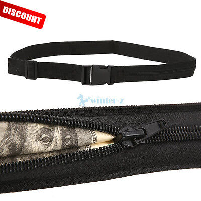 Secret Security Zip Pocket Protect Hidden Travel Waist Money Belt Wallet Pouch