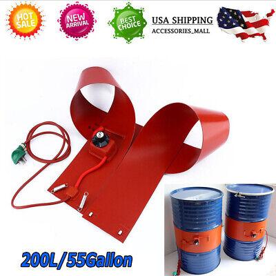 200l55gallon 1000w Silicon Band Drum Heater Oil Biodiesel Metal Barrel Utility