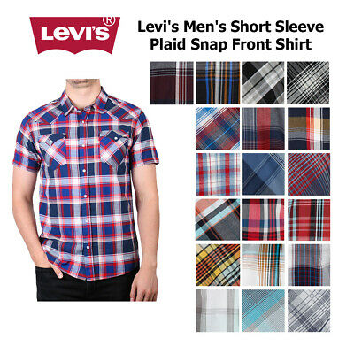 Levi's Men's Short Sleeve Snap Front Shirt Casual Button-Down Shirts