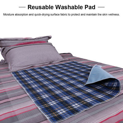 3PCS Washable Bed Pads Reusable Adult Incontinent Pad Blue 45 * 60 Waterproof