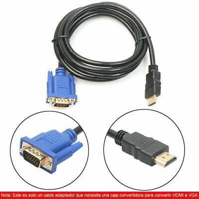 Hdmi macho a VGA D-Sub Macho Cable Adaptador De Video Plomo Para...