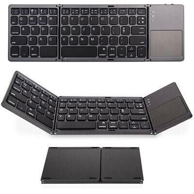 Mini Bluetooth Keyboard Touchpad Folding Triple For Mac Apple iPad iMac iPhone
