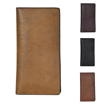 Men's Faux Leather Bifold Long Wallet Cash Card Holder Purse Welcome Clothing, Shoes & Accessories