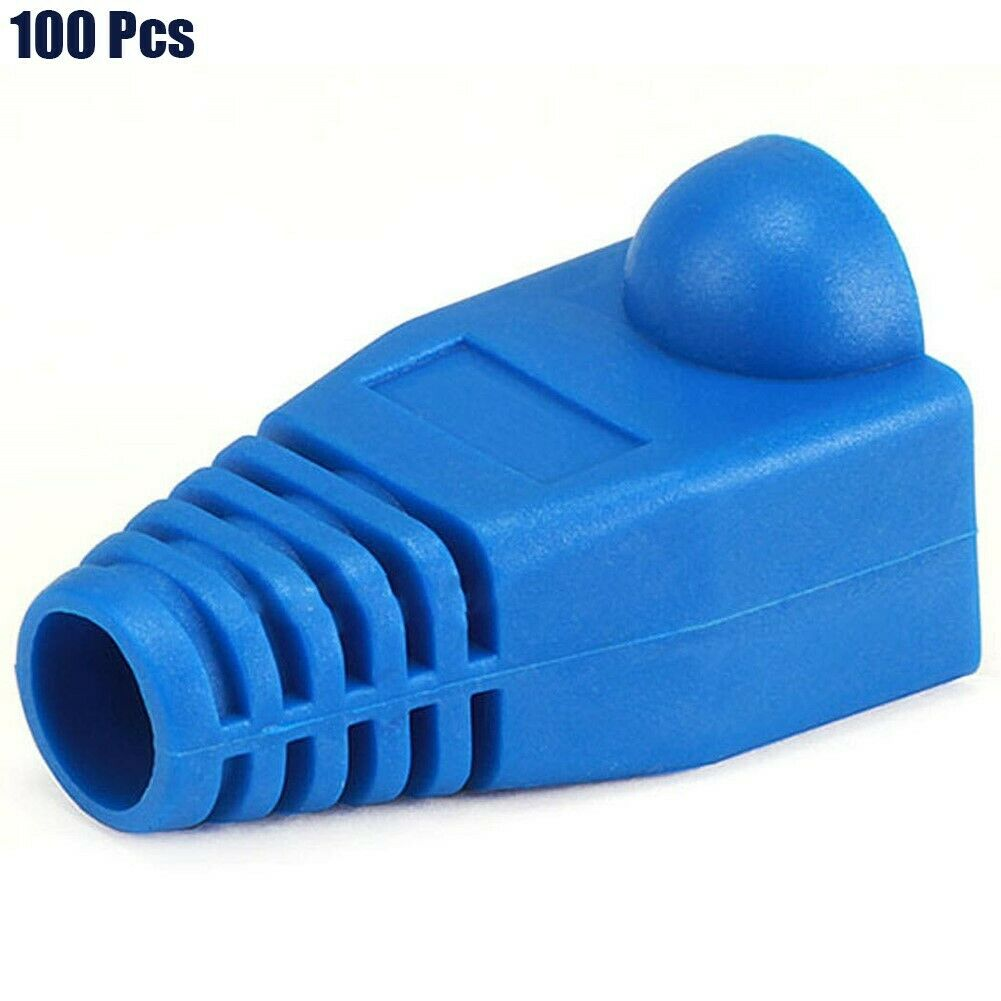 50x Safety Network Cable Ends Plug Connector Cover Boot Cap Cat5 Cat6 NEW