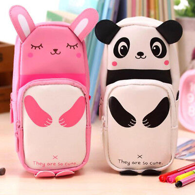 Cartoon Panda Pencil Case Pen Bag Storage Cosmetic Makeup Bag Travel Stationery