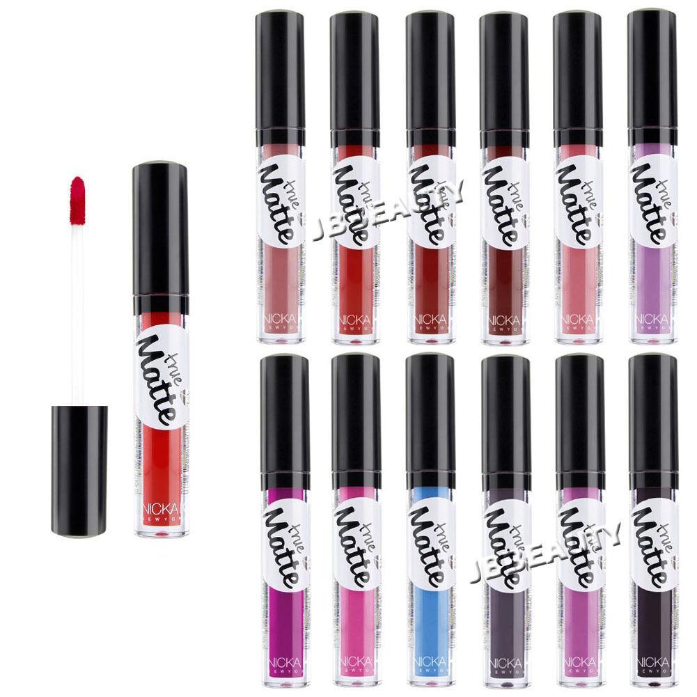 Nicka K True Matte Lipstick Flawless Lip Gloss Makeup Rich 1
