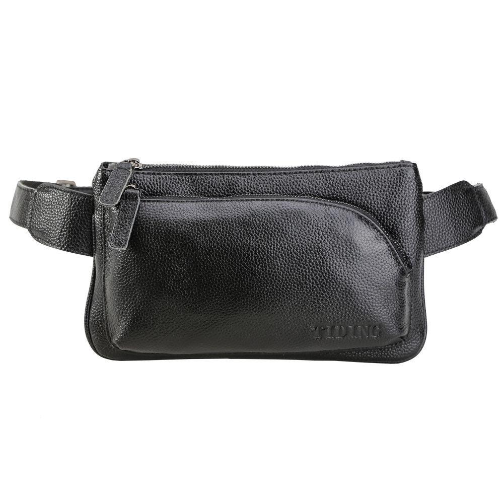 Small Leather Waist Bag for Men Fanny Pack Shoulder Sling Ba