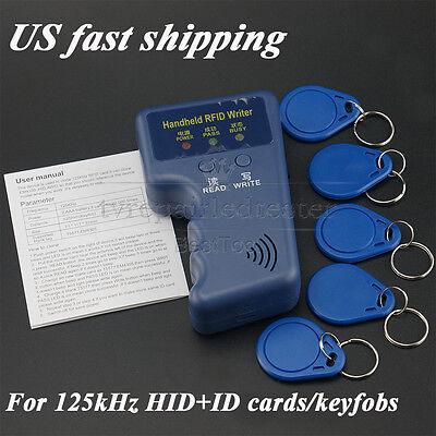 Portable Handheld Rfid Card Writercopier Duplicator For 125khz Cardskeyfobs