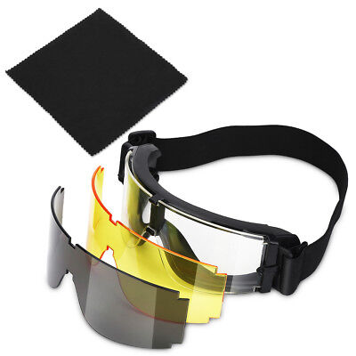 85211d03d61 Military Airsoft X800 Tactical Goggle Shooting GX1000 Glasses Armed 3 Lens  US