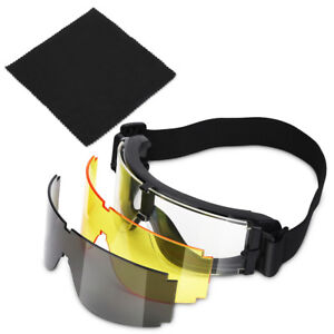 Military Airsoft X800 Tactical Goggle Shooting GX1000 Glasses Armed 3 Lens US