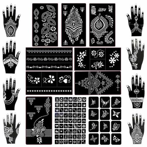 97 Pcs Koogel Henna Tattoo Stickers Body Temporary Art Ink Kit Tattoo Body Art
