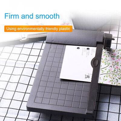Portable A5 Paper Guillotine Cutter Trimmer Machine Built-in Ruler Office Home.