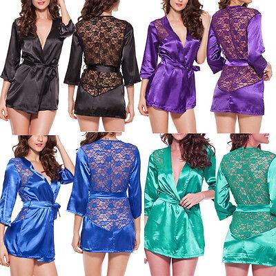 Women's Intimate Lace Lingerie Robe Sleepwear Underwear G-string Babydoll Dress