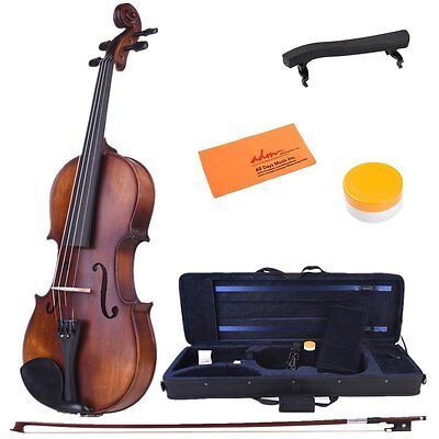 1/2 Half Size Solid Wood Acoustic Violin Fiddle with Case, Bow, Strings, Tuner